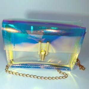 Handbags - Clear transparent jelly chain crossbody bag